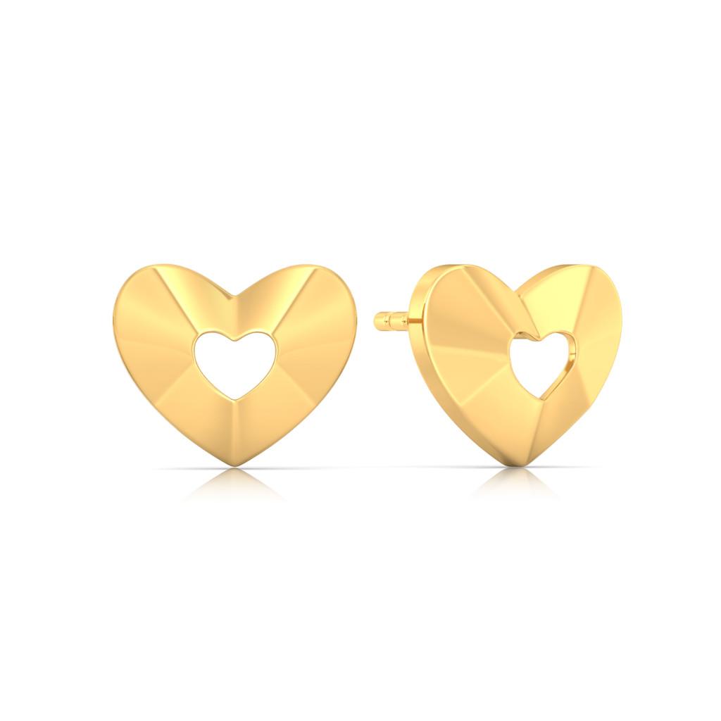 Peek-a-boo Gold Earrings