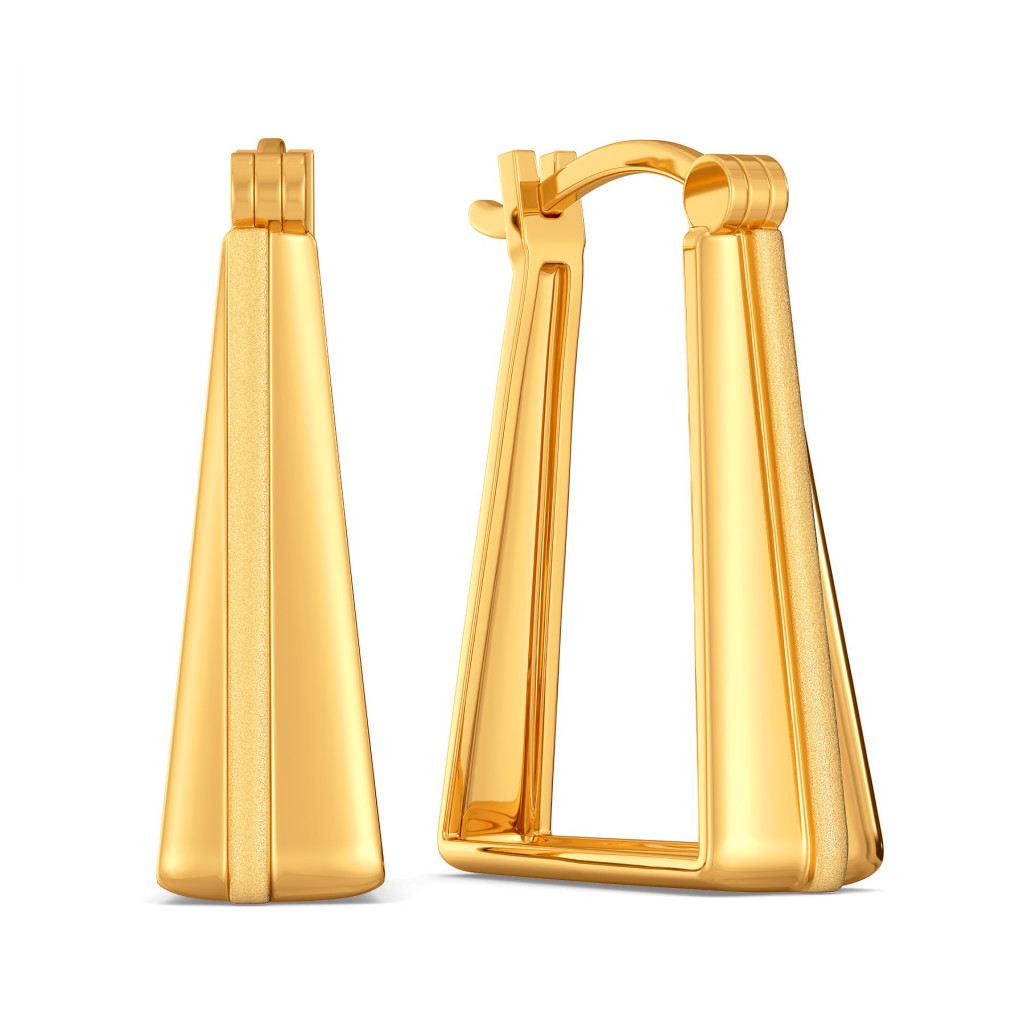 Subtly Suave Gold Earrings