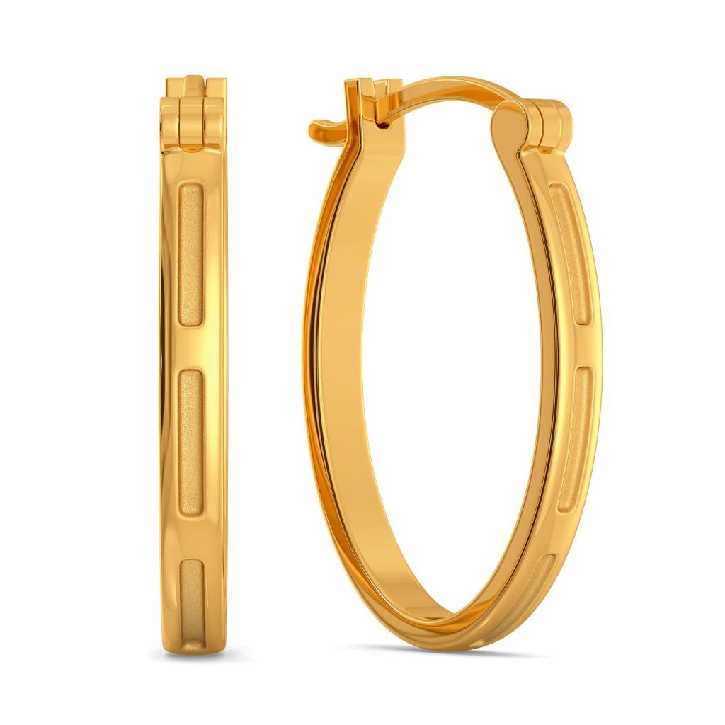 Subtle Seams Gold Earrings