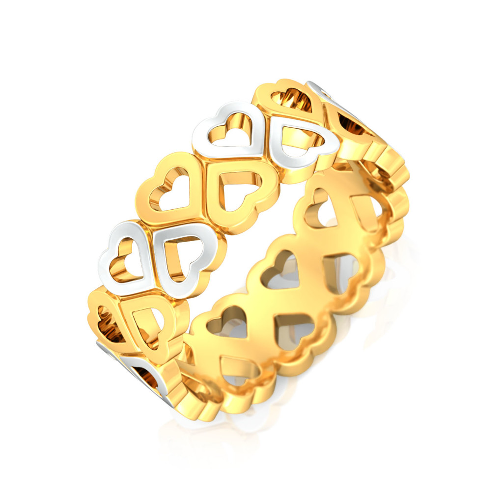 Puppy Love Gold Rings