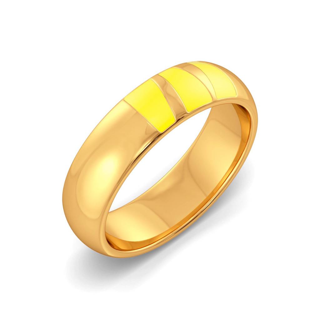Slice of Pine Gold Rings