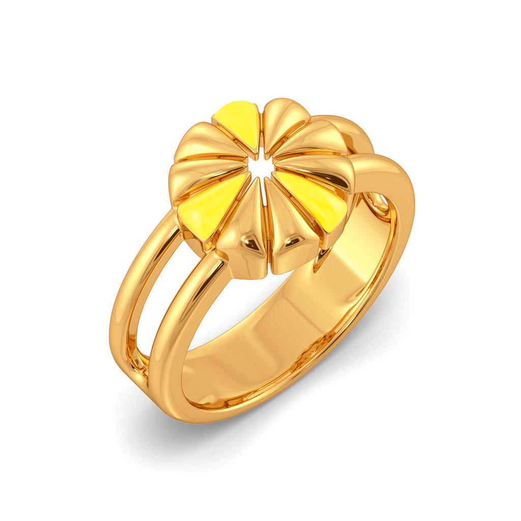 Citrus Limetta  Gold Rings
