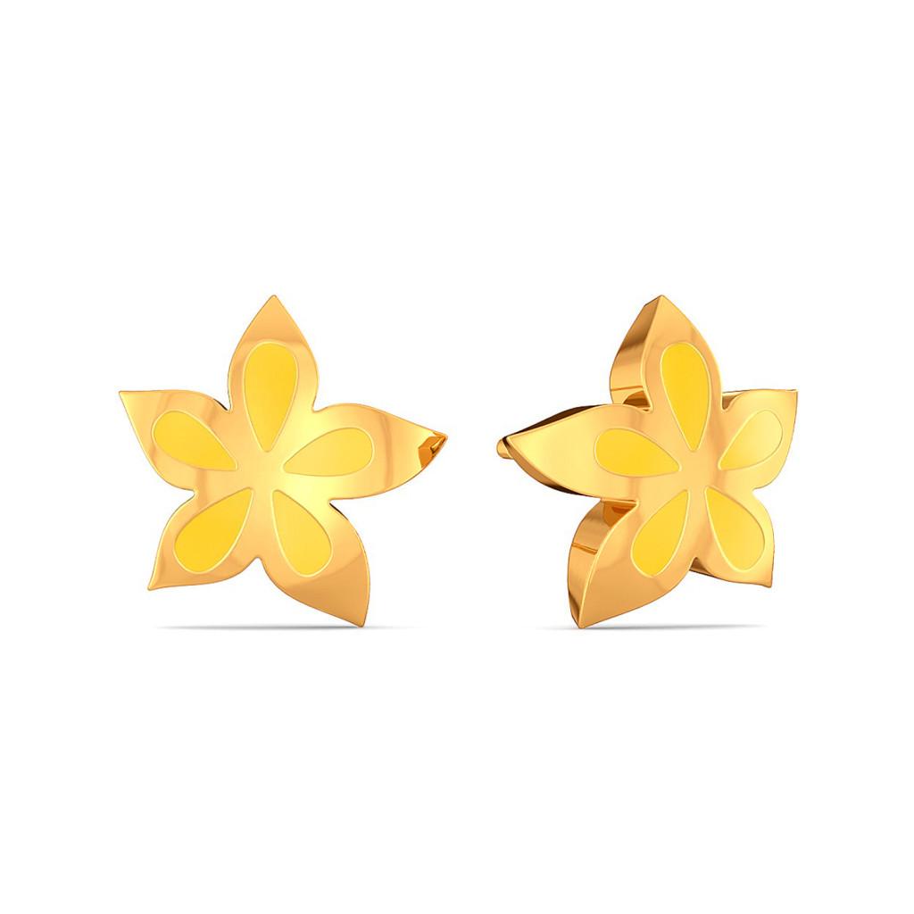 Spring A Bling Gold Earrings