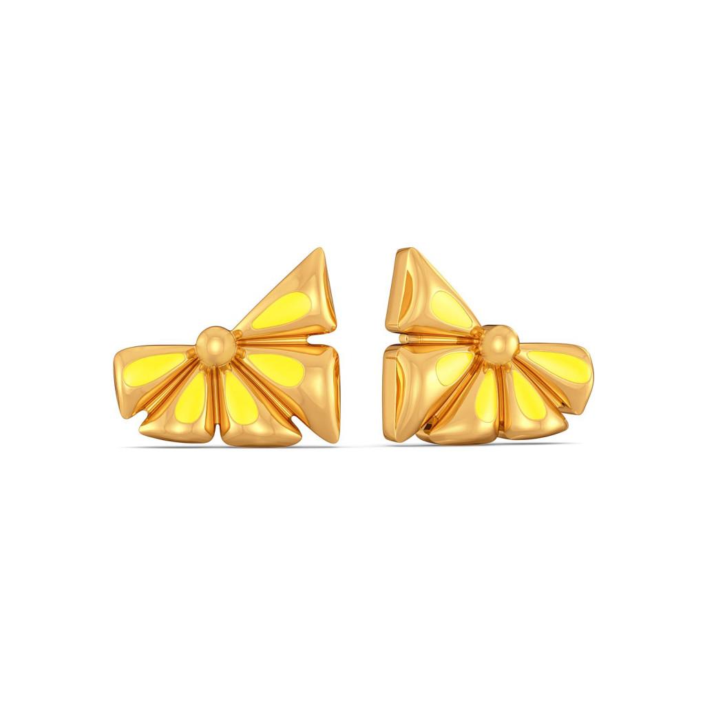 Fusion Fruit Gold Earrings