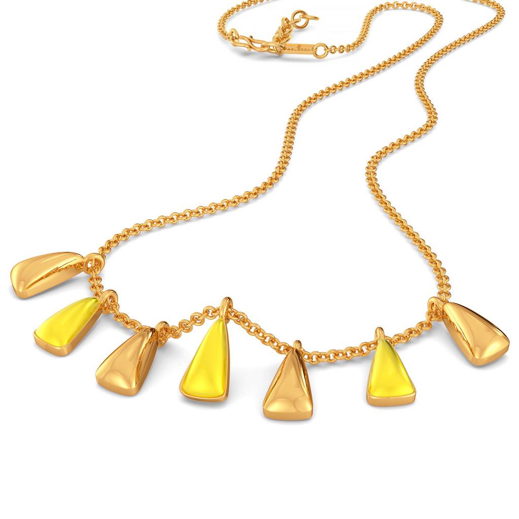 Melon Maze Gold Necklaces