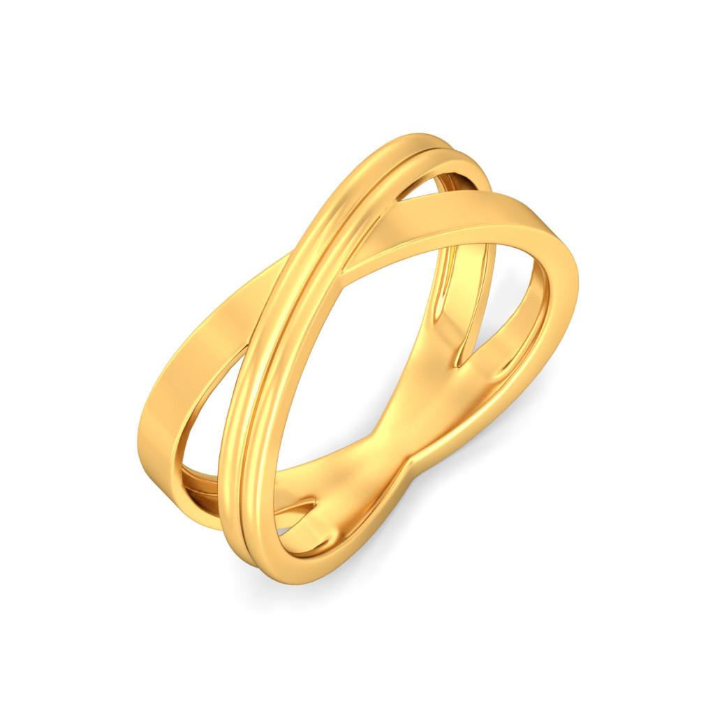 Simplistic Grace Gold Rings