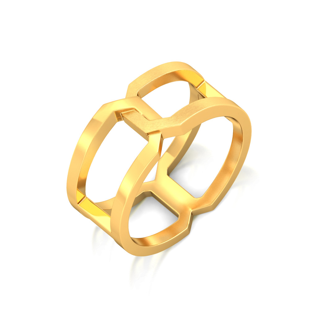Gold Entwined Gold Rings