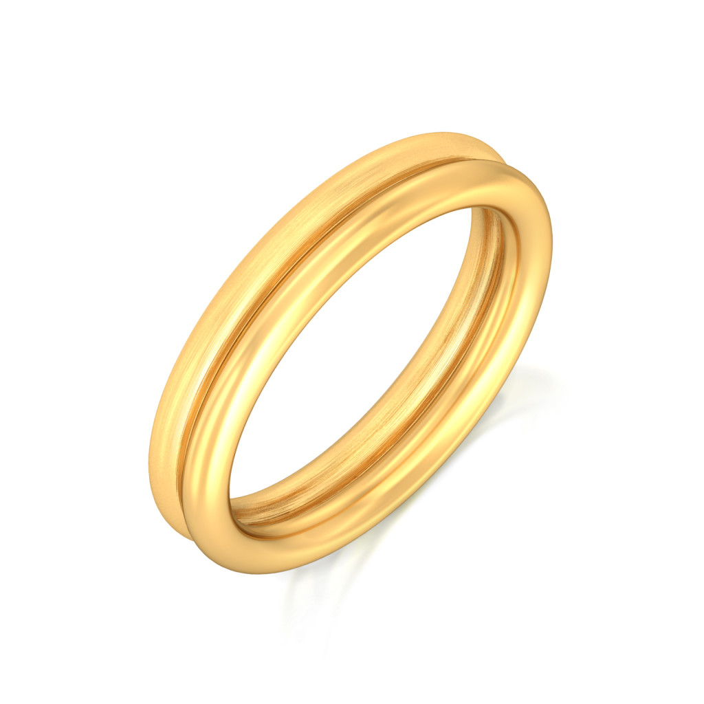 Duple Loops  Gold Rings