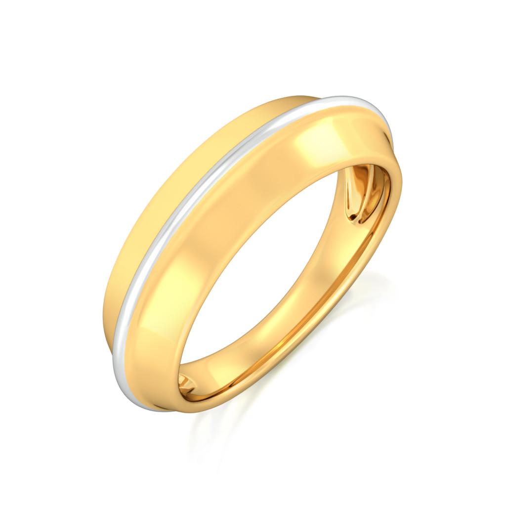 Polygon Shield Gold Rings