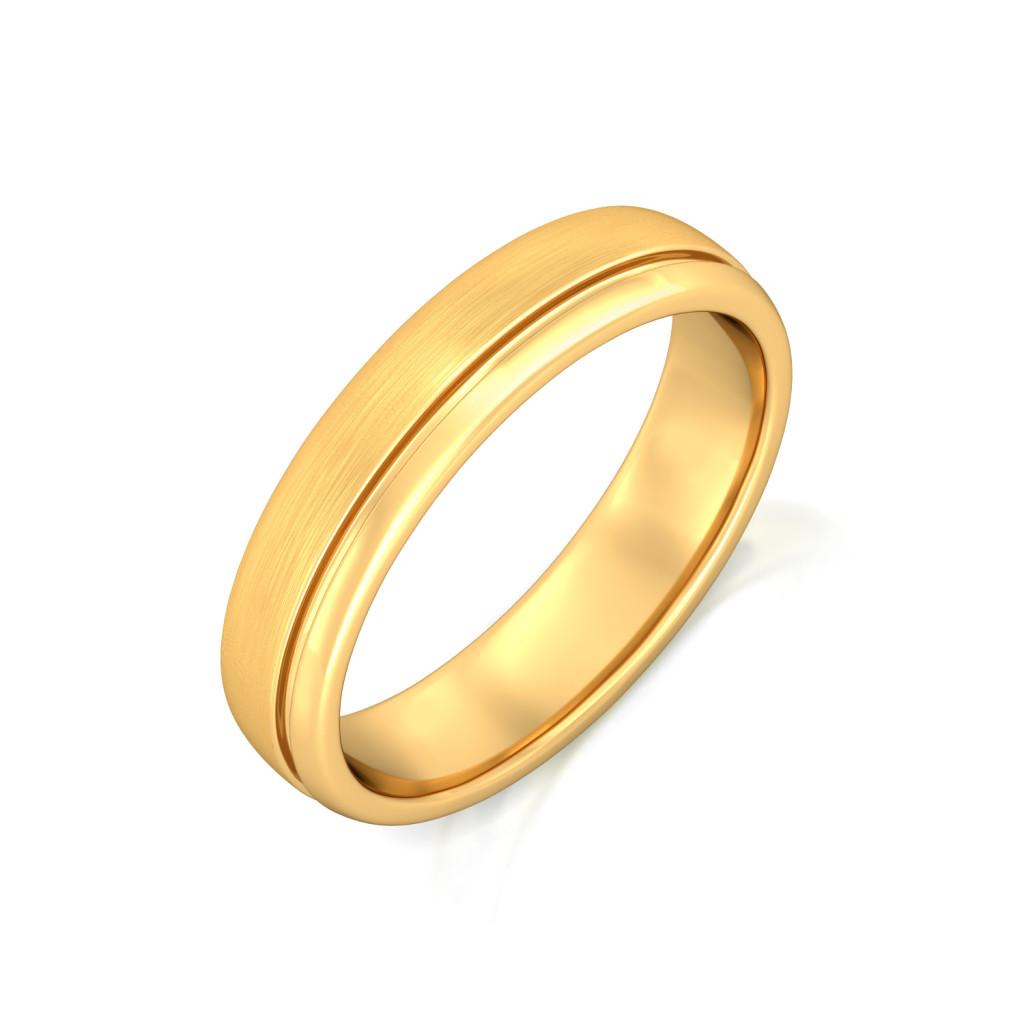 Halo Orbit Gold Rings