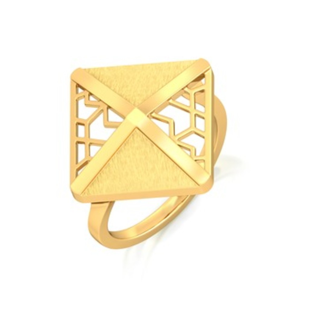On The Square Gold Rings