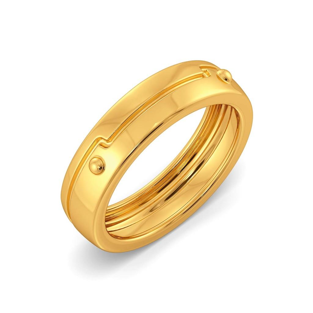 Lock N Latch Gold Rings
