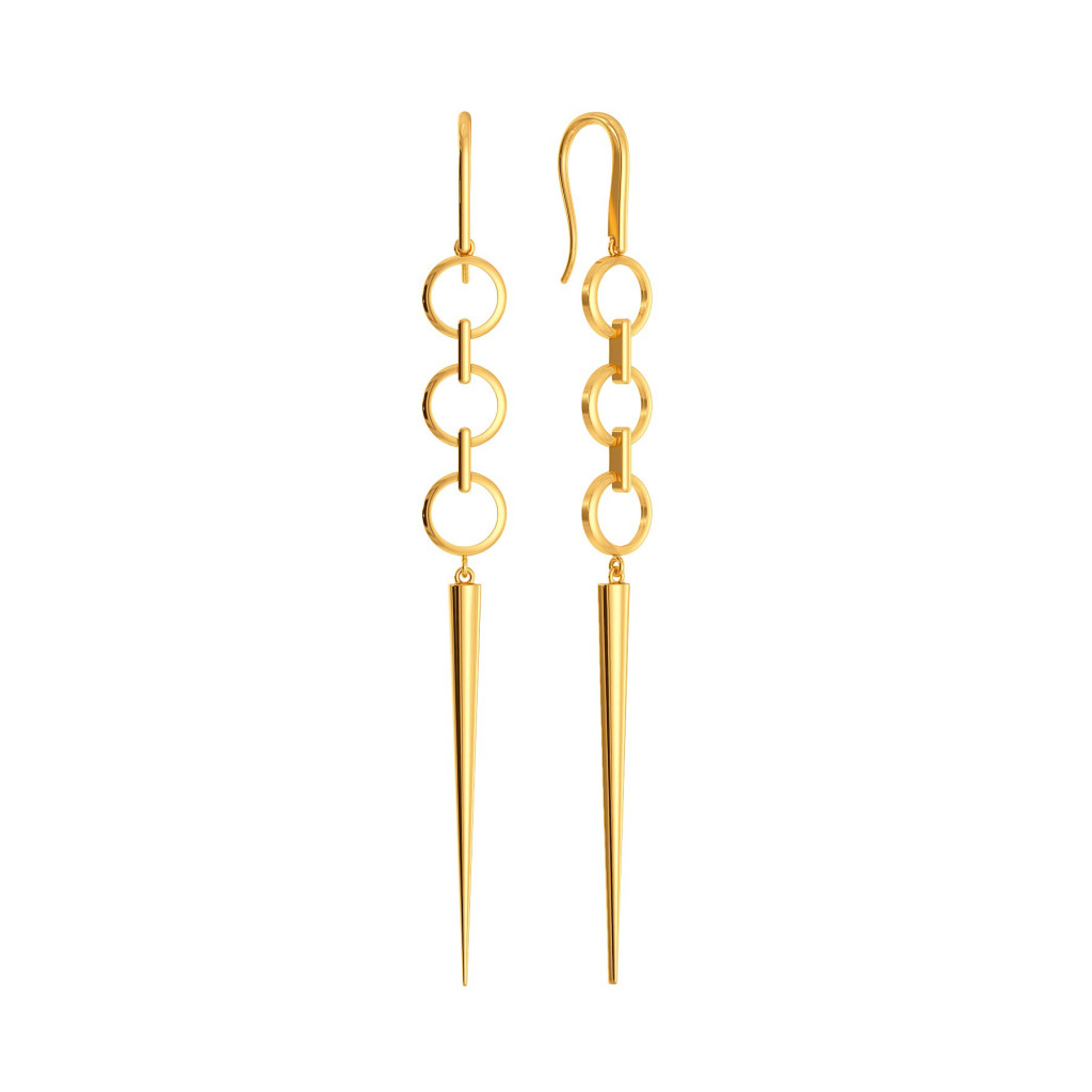 Twist N Tassel Gold Earrings