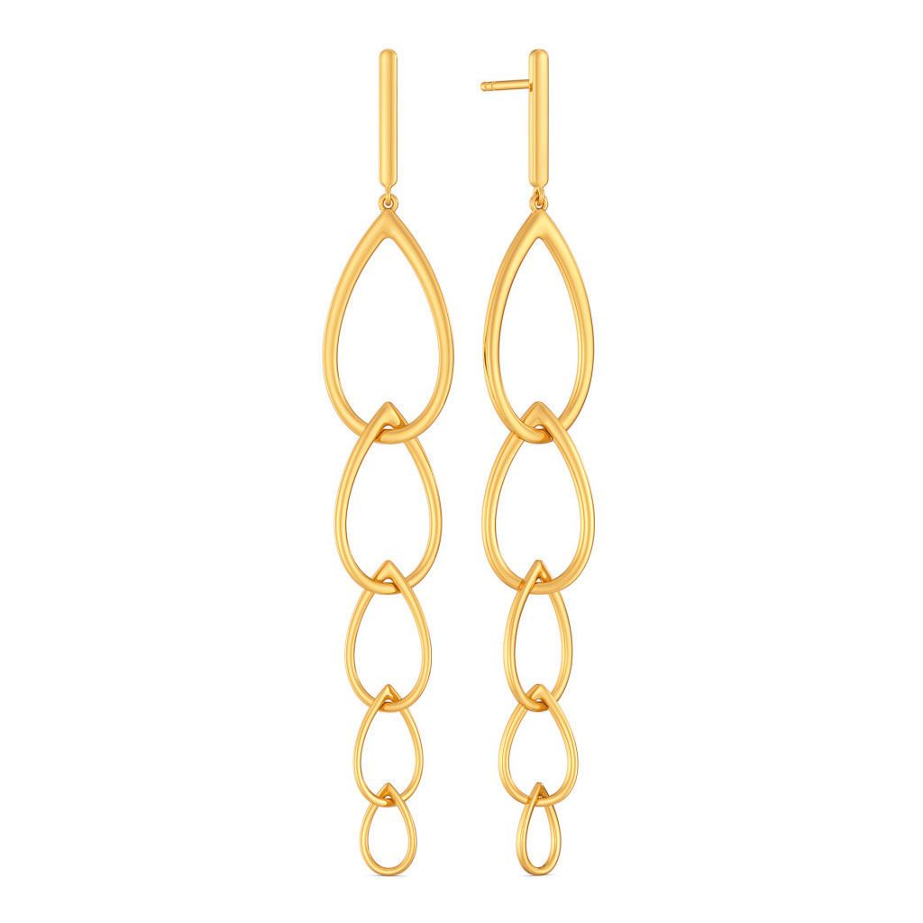 Blink A Link Gold Earrings