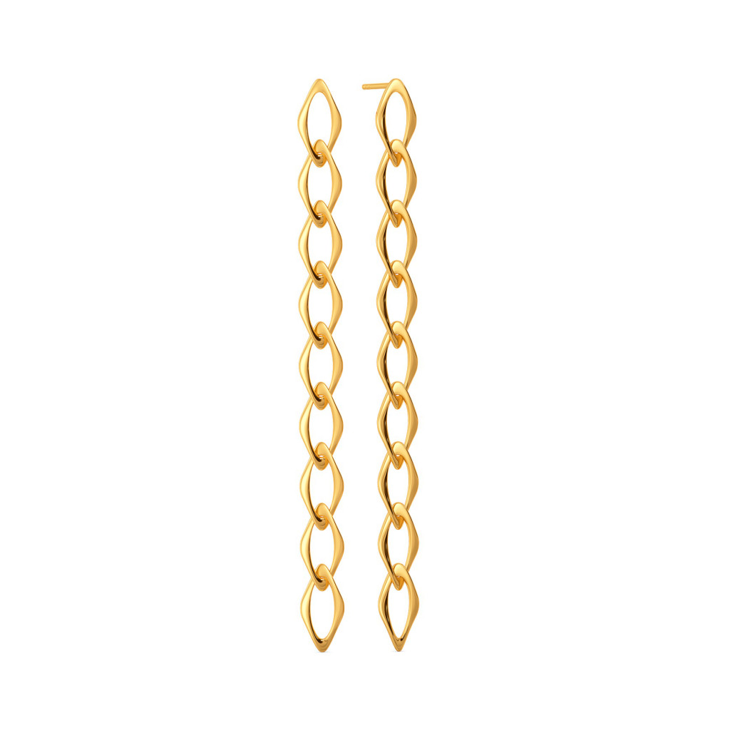 Wink A Link Gold Earrings