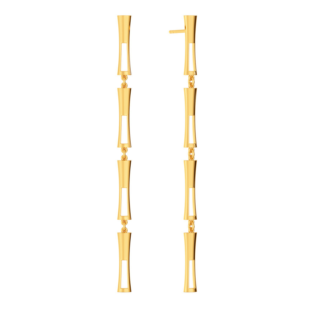 Bardot Bends Gold Earrings