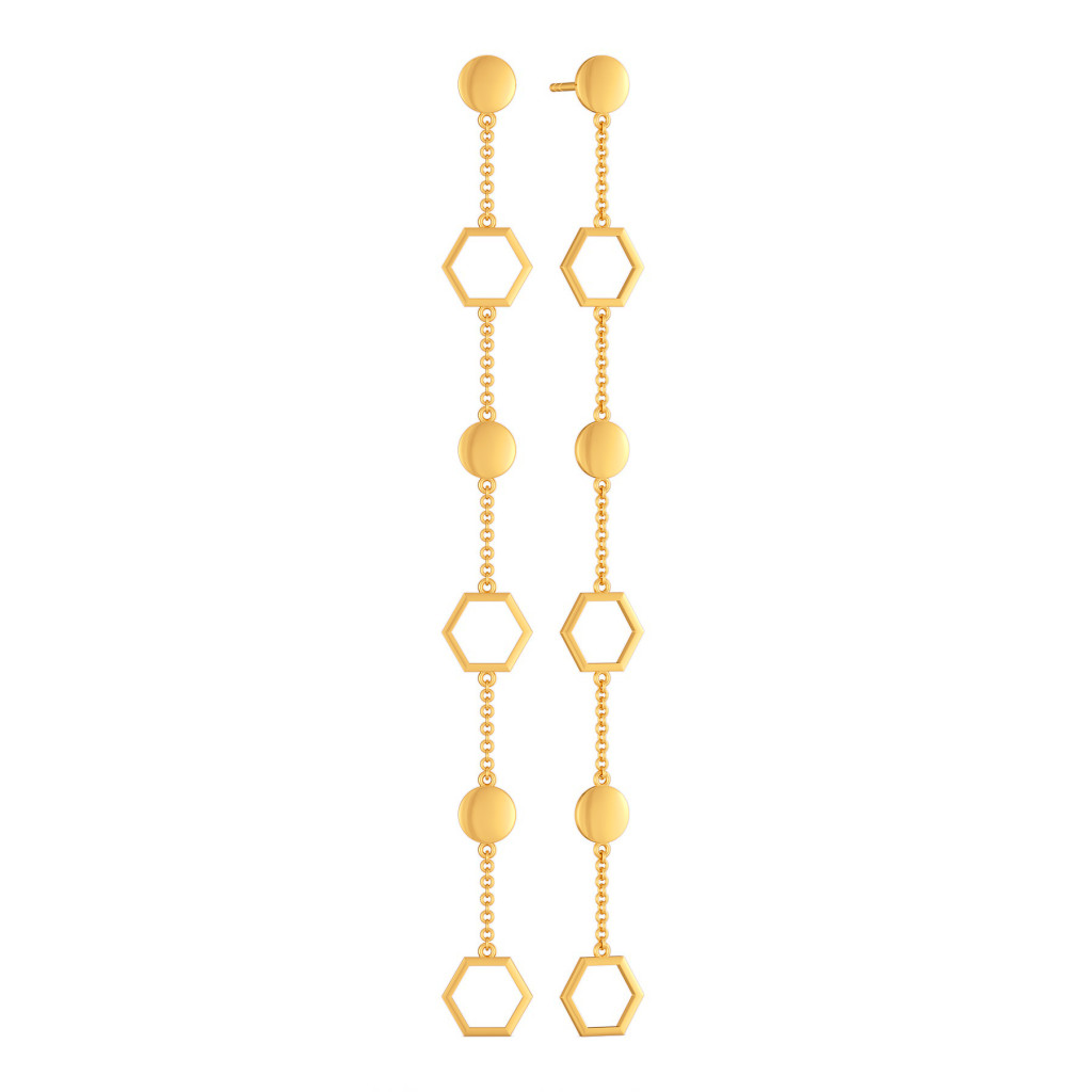 Droopy Loops Gold Earrings
