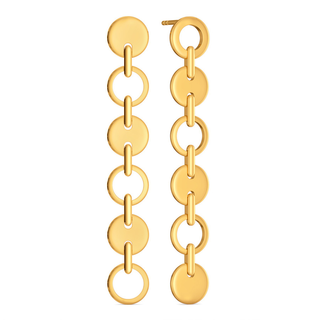 Swaying Suave Gold Earrings