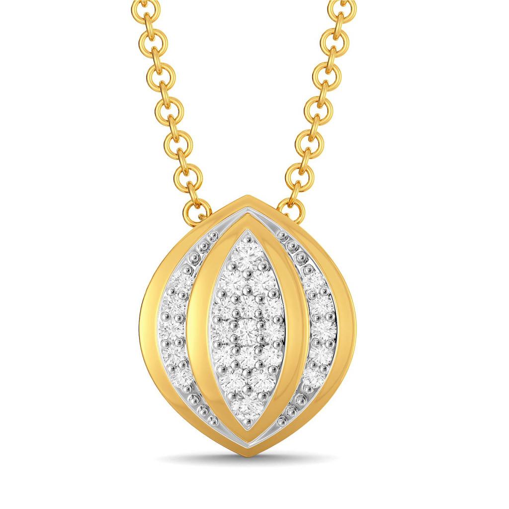 Floral Folds Diamond Pendants
