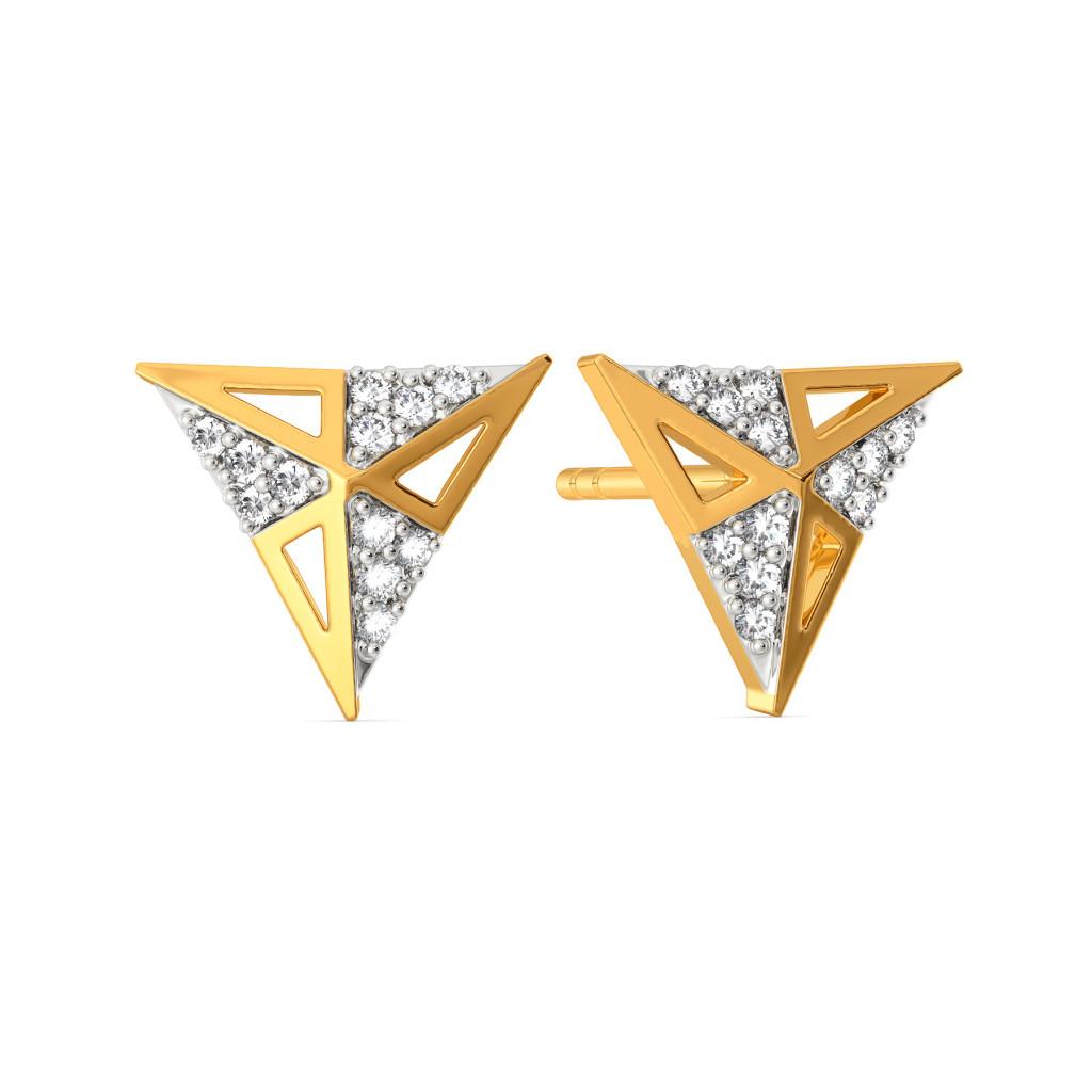 The Power Angle Diamond Earrings