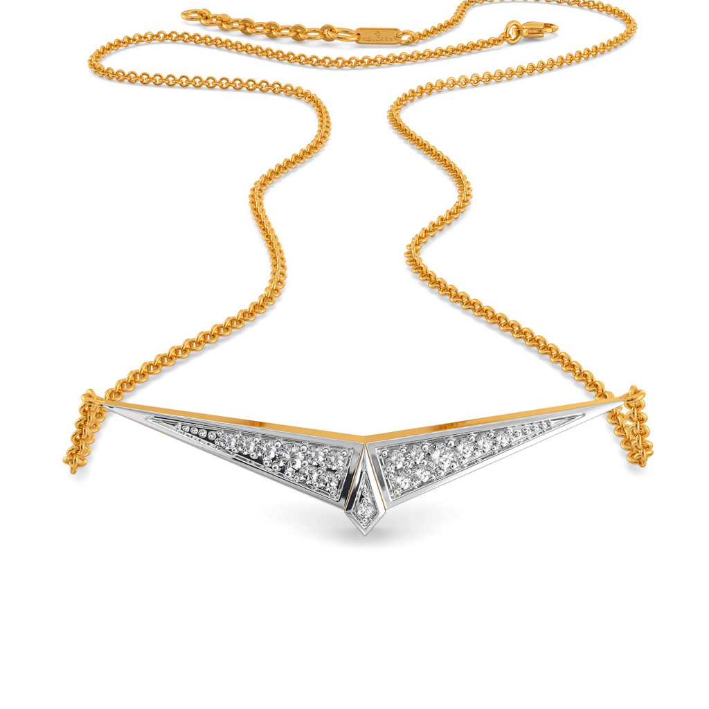 Power Triangle Diamond Necklaces