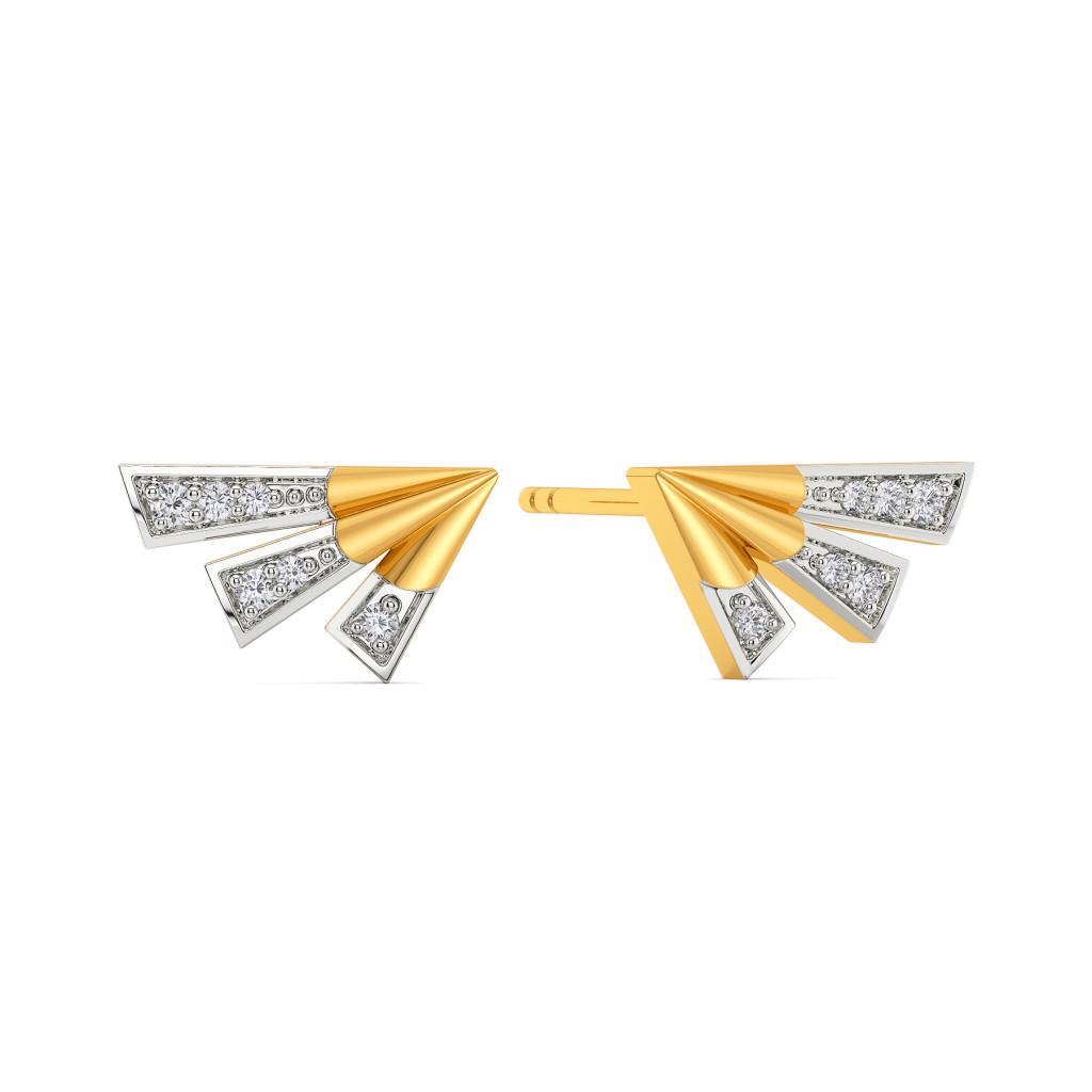 Strong Winged  Diamond Earrings