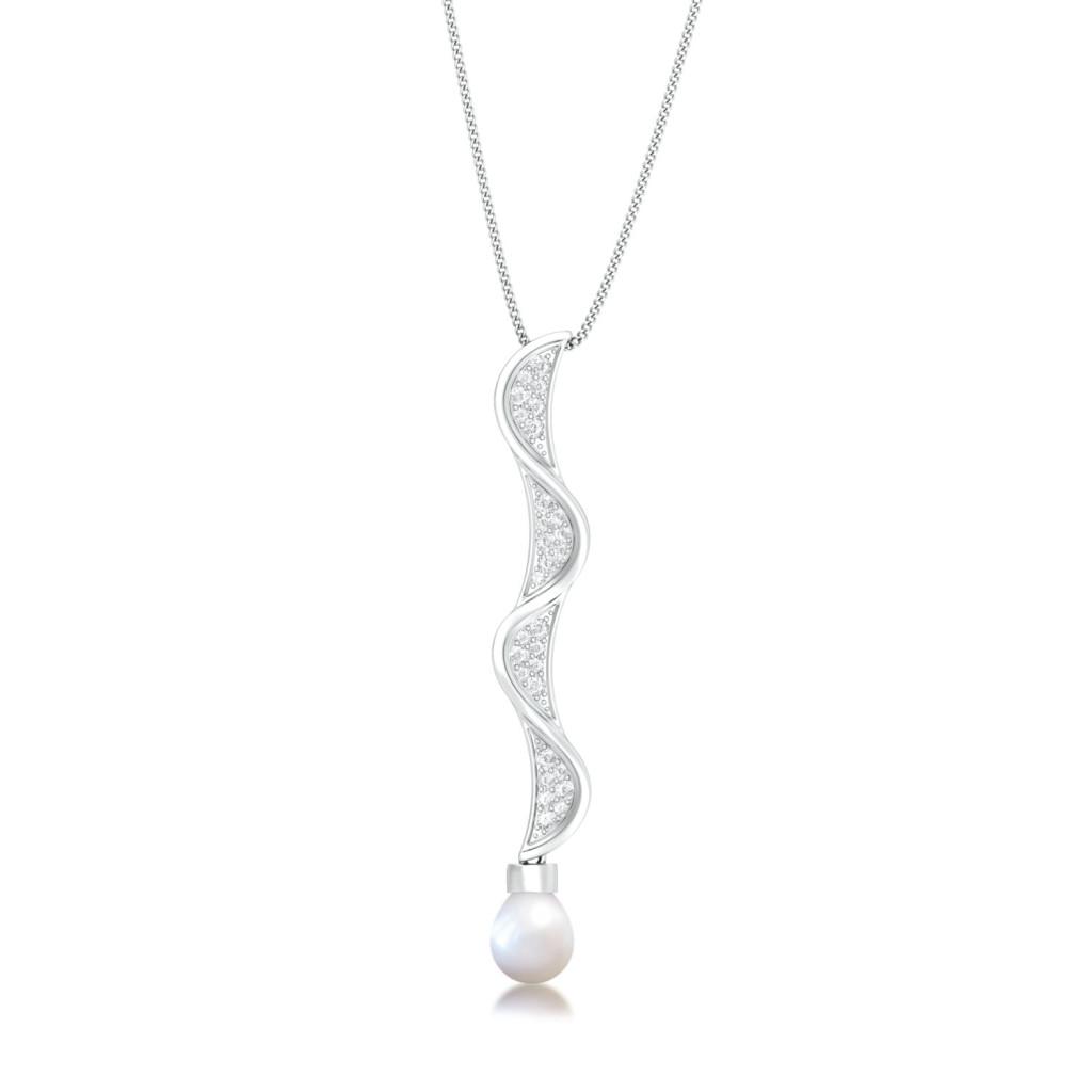 Maitake Diamond Pendants