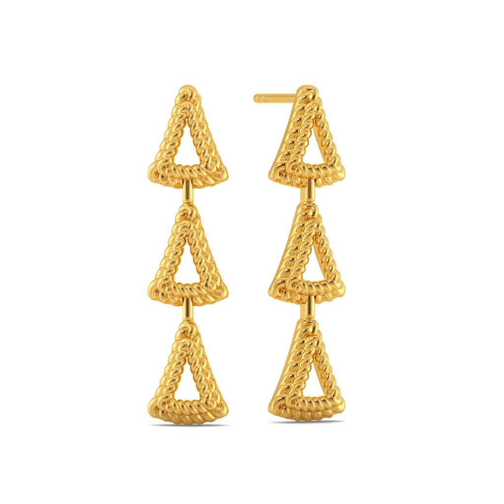 Trinity Fair Gold Earrings