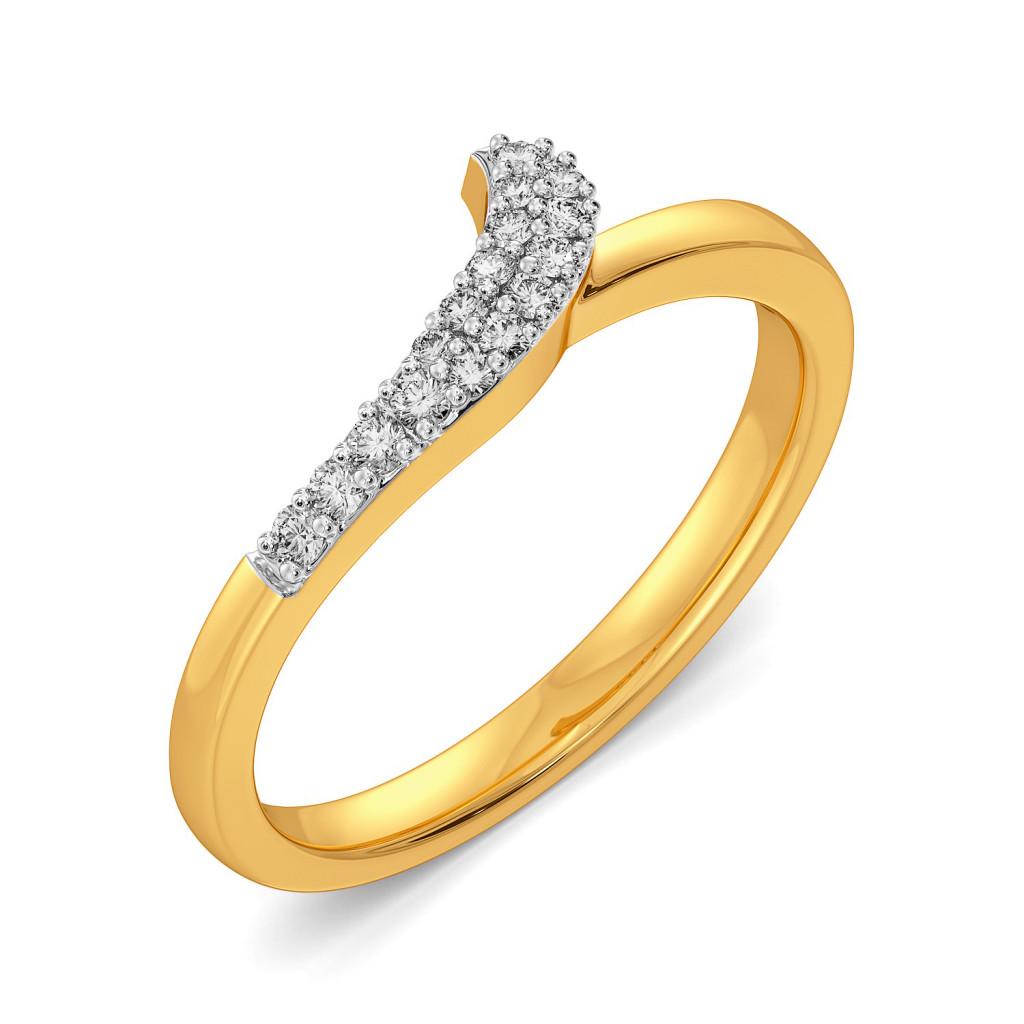 Curl A Swirl Diamond Rings