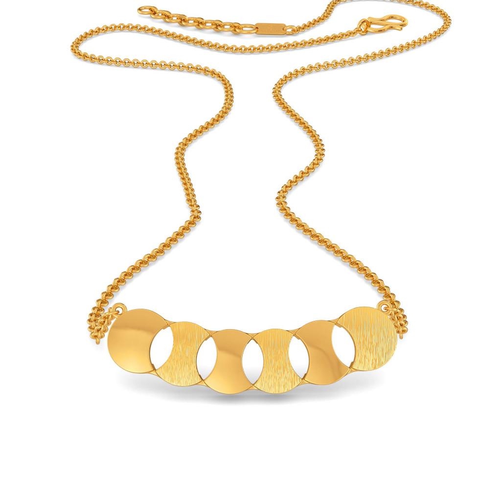 Power Sequins Gold Necklaces