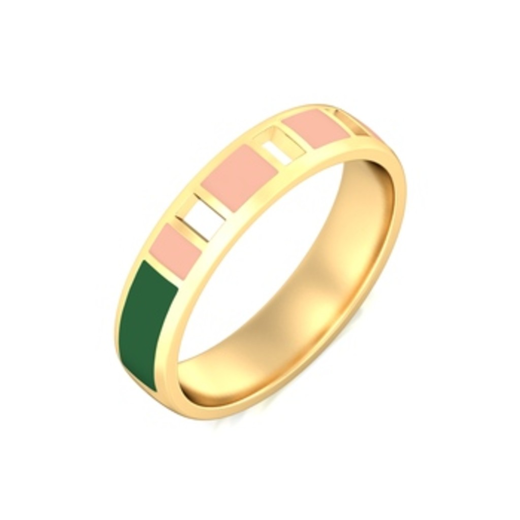 Bayadere Stripes Gold Rings