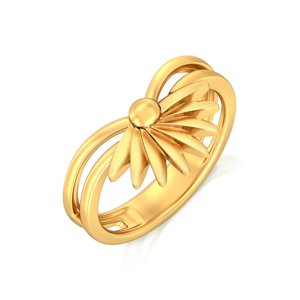 Yellow Tangelo Gold Rings