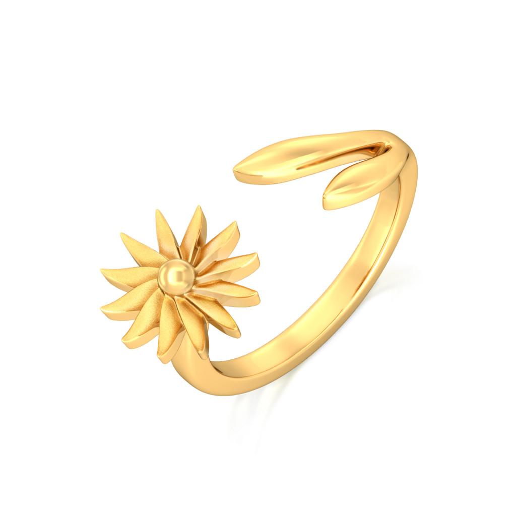 Pop of Sunshine Gold Rings