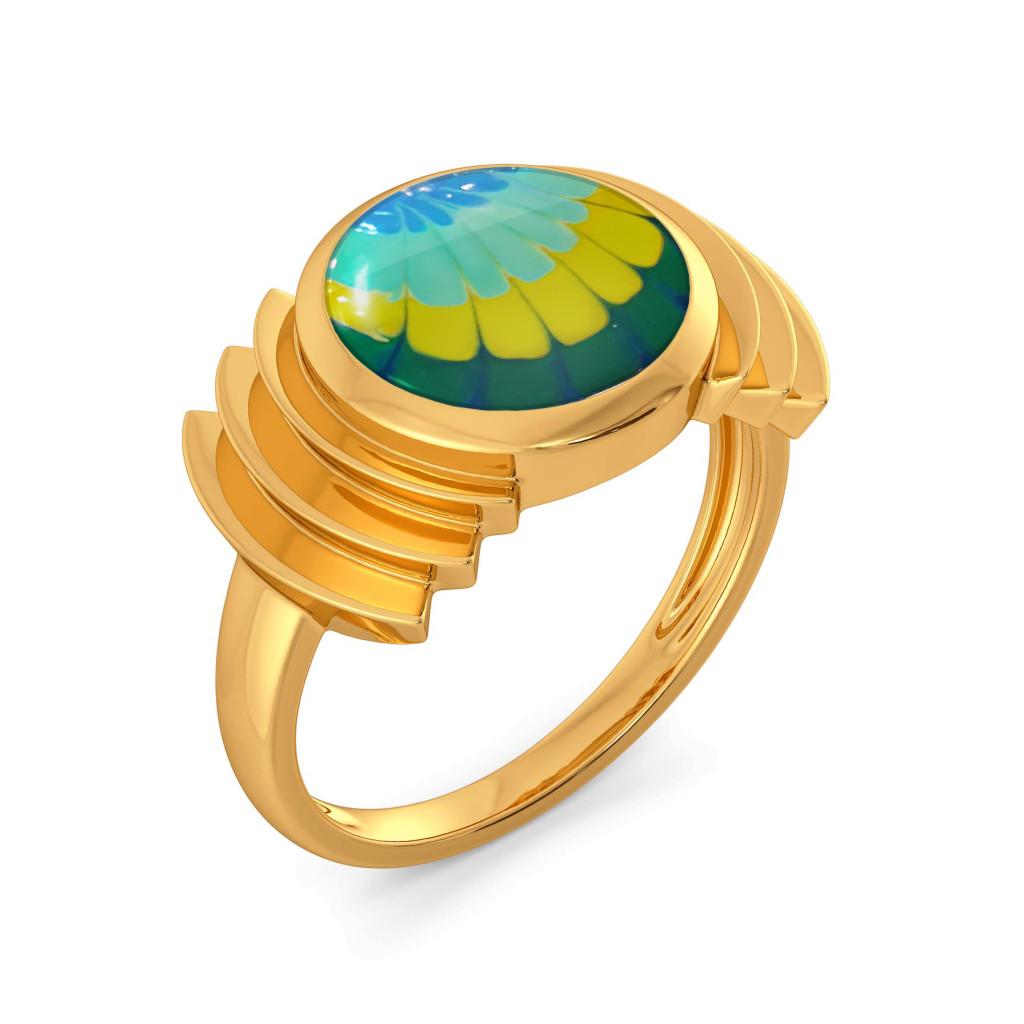 Tie & Dye Twist Gold Rings
