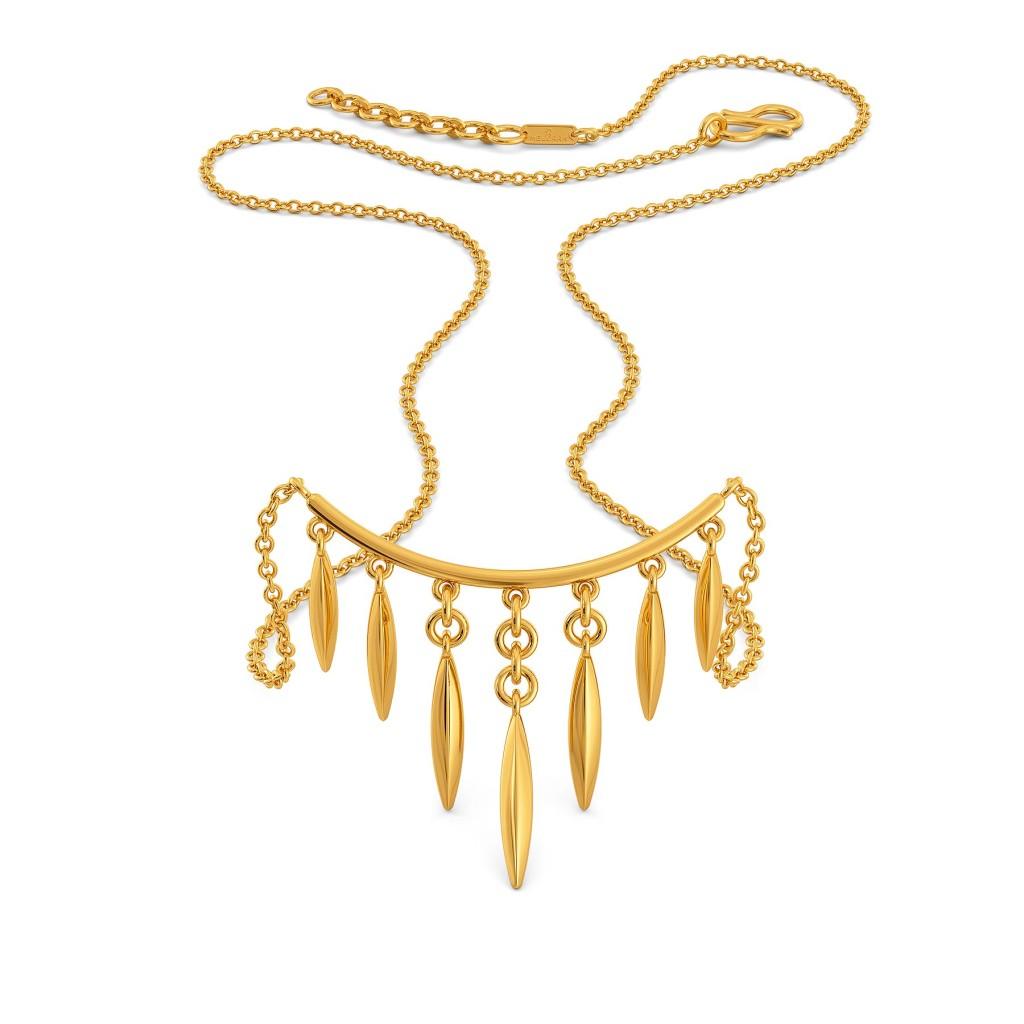 Fancy A Fringe Gold Necklaces