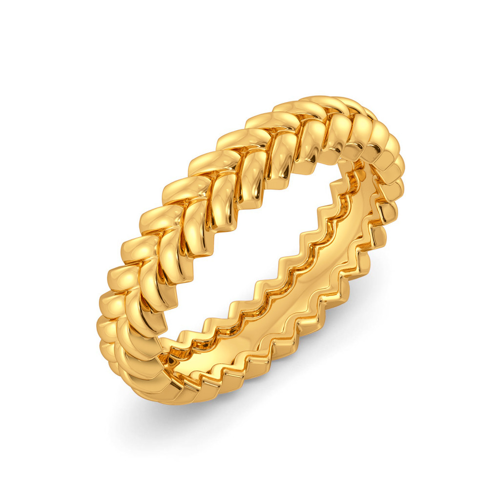 The Twill Drill Gold Rings