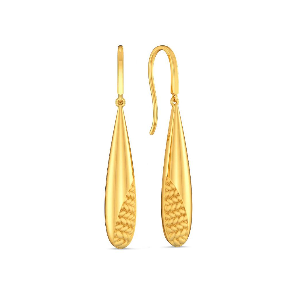 Peek A Weave Gold Earrings