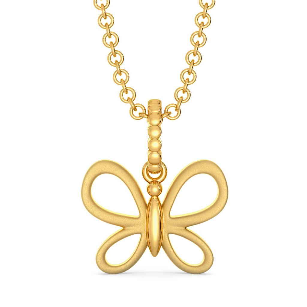 Butterfly Mystify Gold Pendants