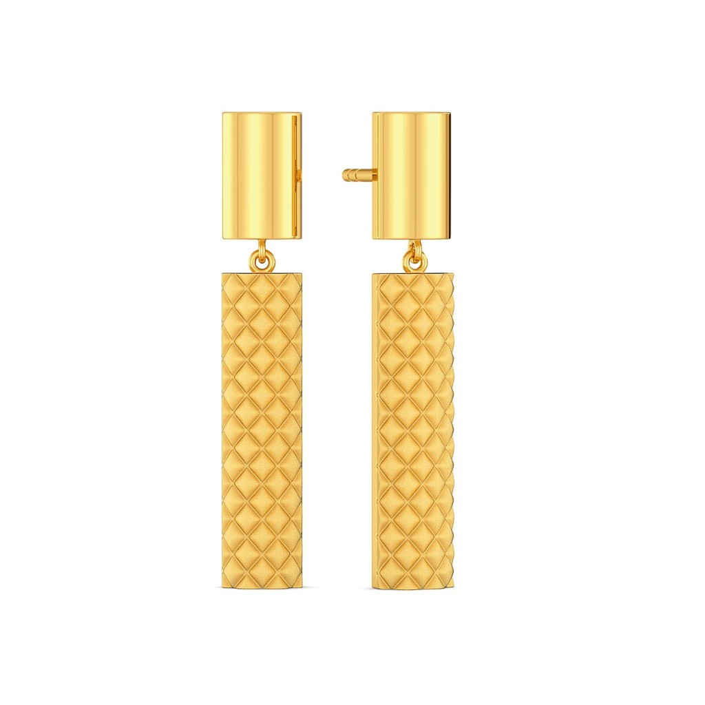 The Mamba Maze Gold Earrings
