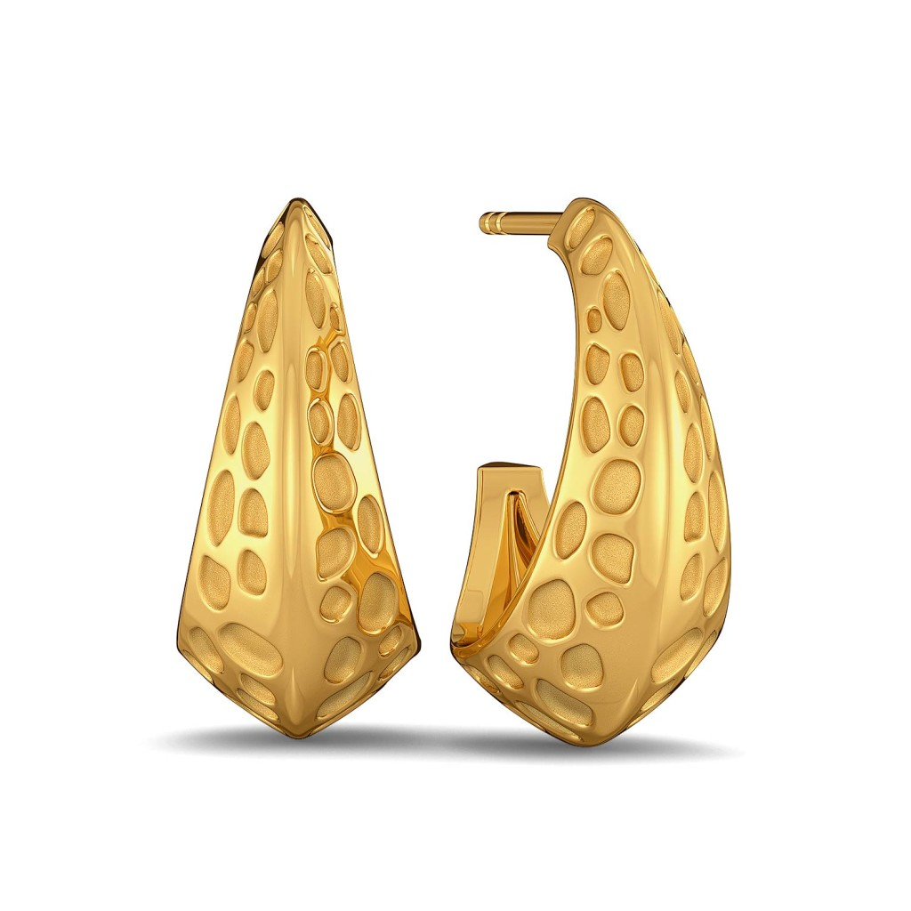 Panthera Pardus  Gold Earrings