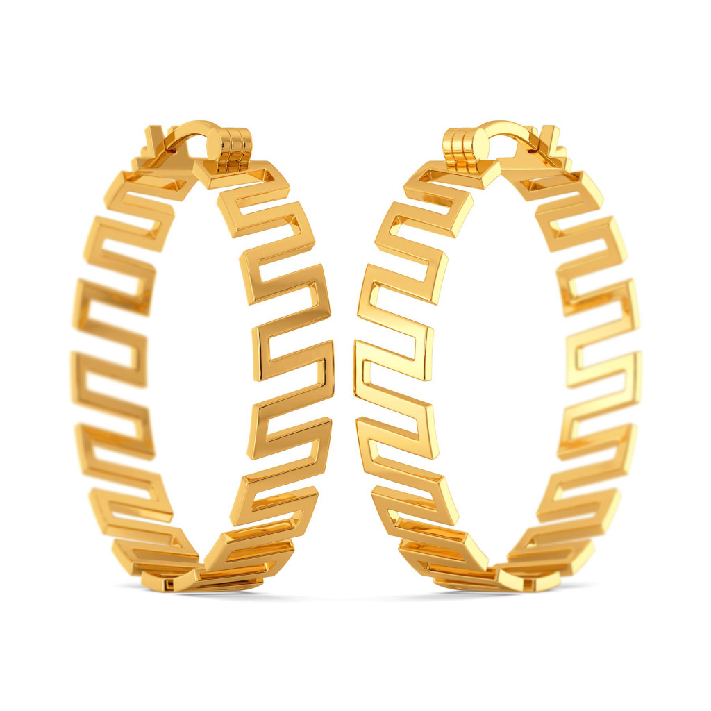 Drama Rules Gold Earrings