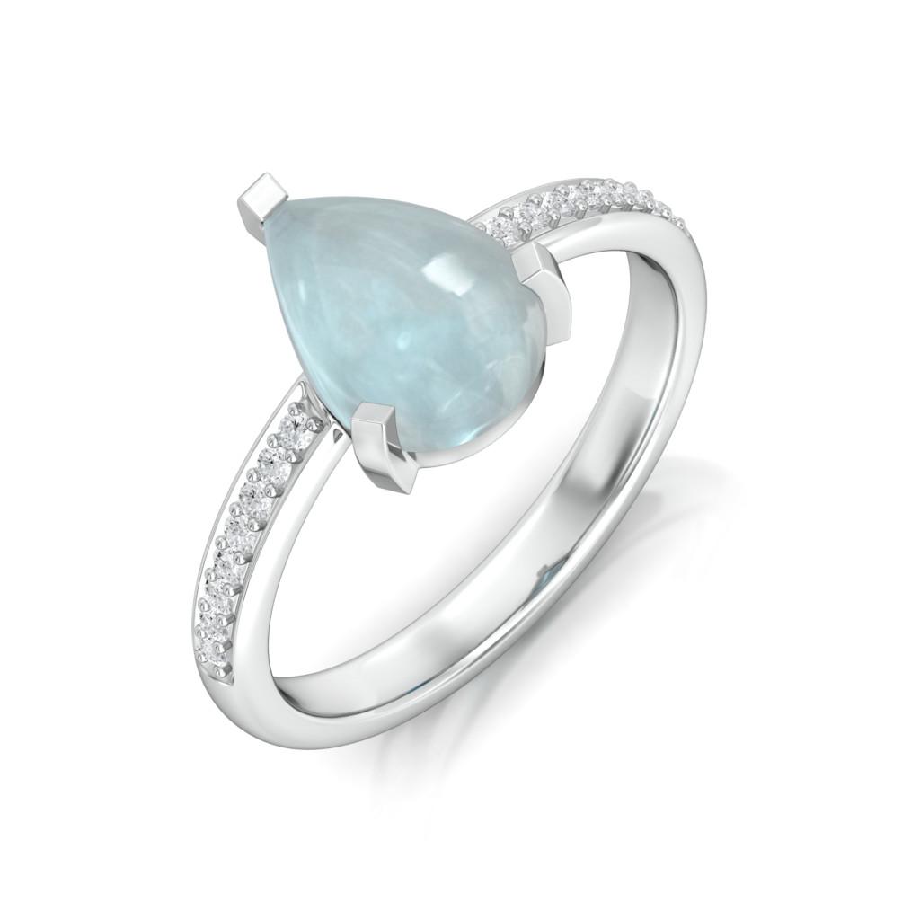 Blue Ice Diamond Rings