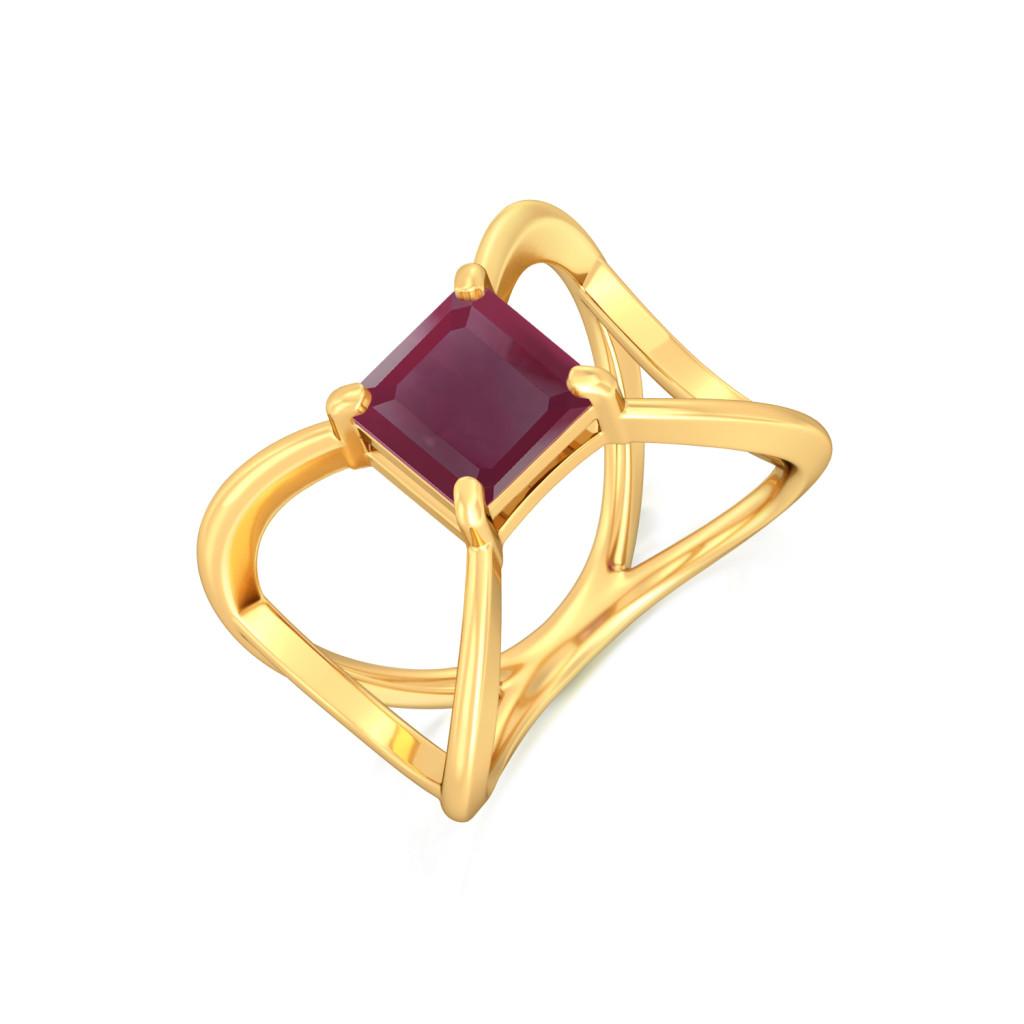 Cabernet Franc Gemstone Rings