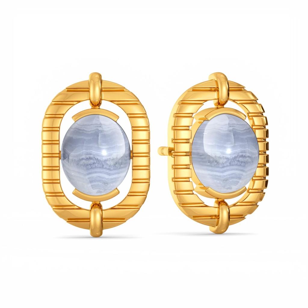 Snow Washed Gemstone Earrings