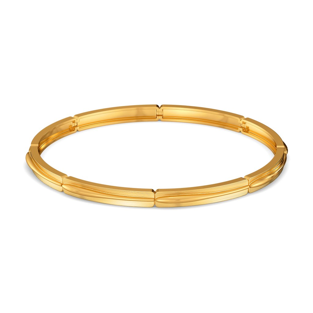 Sleek Suave Gold Bangles