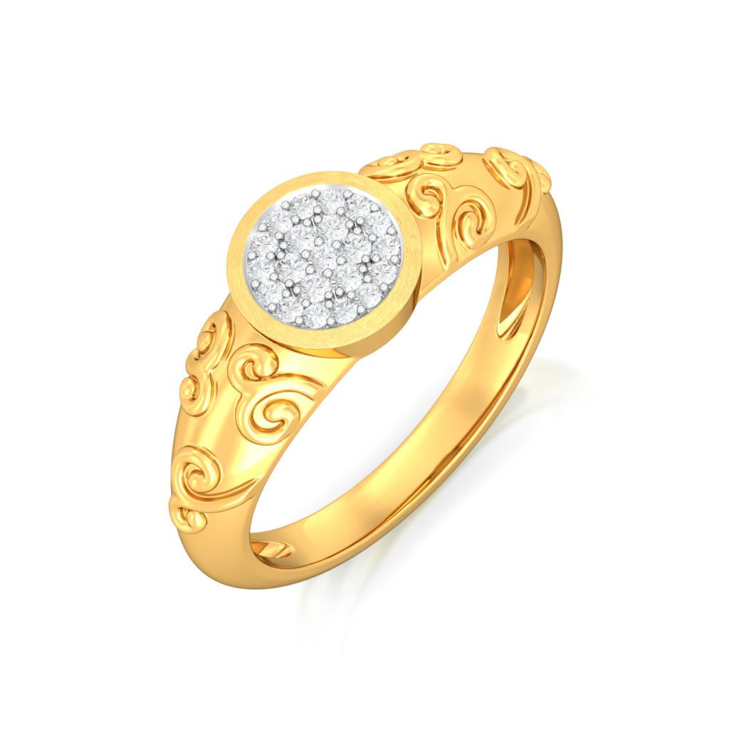 Twirl-o-rama Diamond Rings