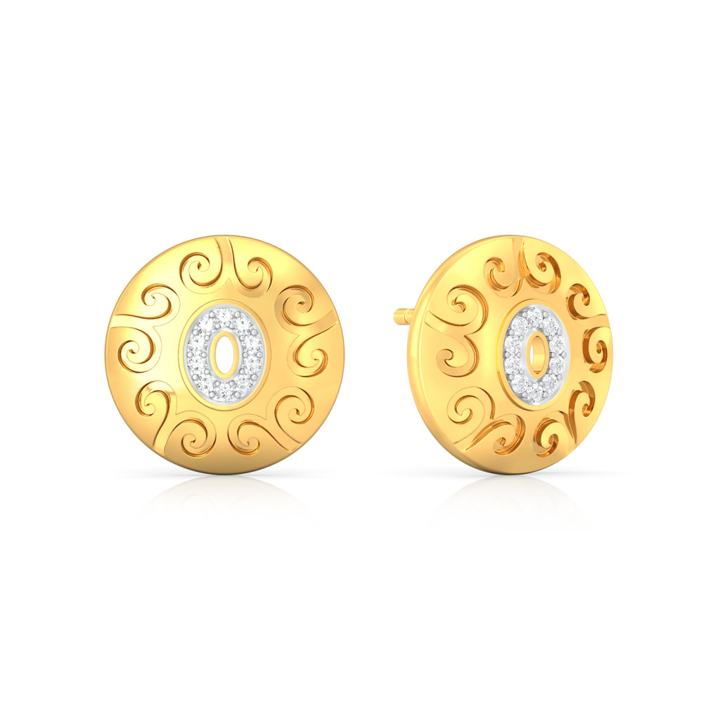 Golden Eye Diamond Earrings