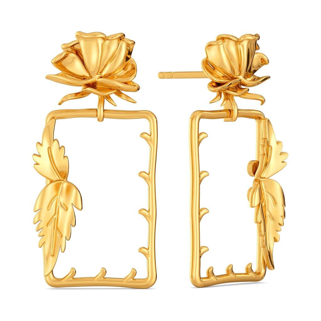 Etoile de Lyon Gold Earrings