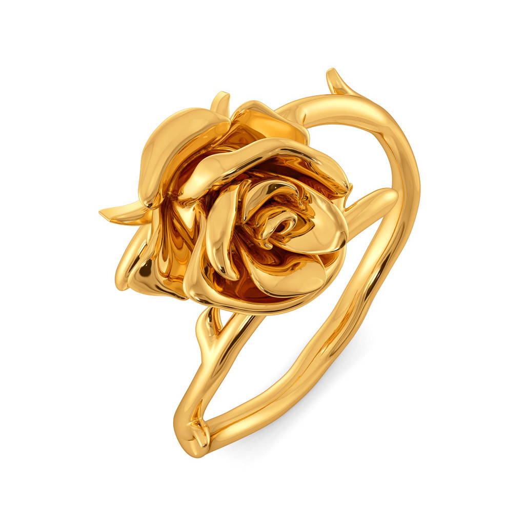 Rose Entwine Gold Rings