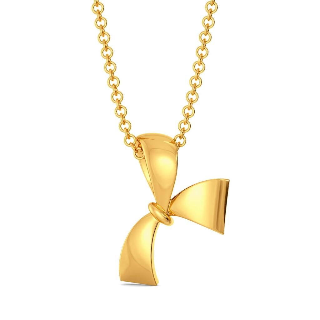 Bow Vow Gold Pendants